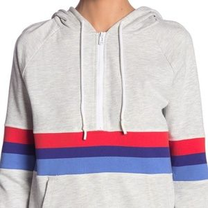Andrew Marc Weekend French Terry Half Zip Jacket